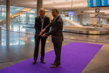 Opening of the new domestic arrivals hall