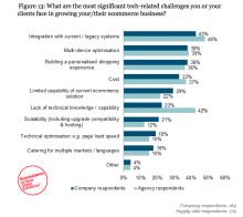 48% anser att systemintegration är den största utmaningen för att växa e-handeln