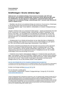 Värdebarometern 2015 Grums kommun