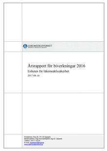 Årsrapport för biverkningar 2016