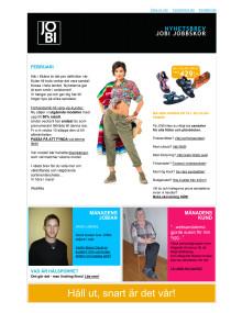 JOBI Jobbskor Nyhetsbrev februari 2012