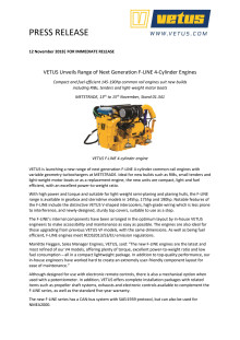 VETUS Unveils Range of Next Generation F-LINE 4-Cylinder Engines