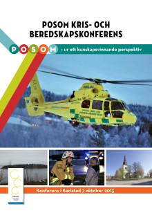 Inbjudan Posom Kris- och beredskapskonferens Karlstad 7 oktober 2013