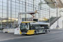 Mit dem Scania Elektrobus über das Messegelände der IAA Nutzfahrzeuge 2018