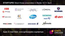 15 storföretag efterlyser startups för samarbeten
