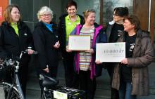 Cyklande hemtjänst skänker miljöpris till välgörenhet