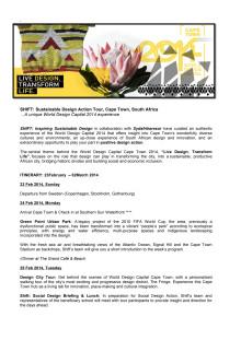 Upplev Kapstaden Designhuvudstad 2014
