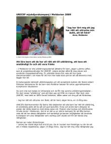 UNICEF i Moldavien genom IKEA mjukdjurskampanj