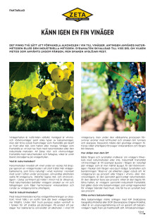 Fakta kring vinäger