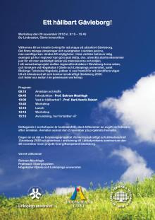 Workshop den 29 november 2012 om Klimatneutralt och konkurrenskraftigt Gävleborg 2050