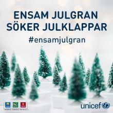 ENSAM JULGRAN SÖKER JULKLAPPAR