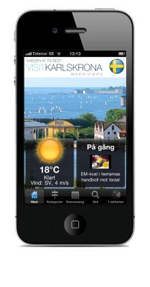 Karlskronas uppdaterade mobilapp bjuder på fler godbiter