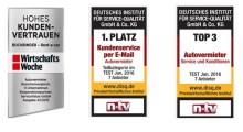 Buchbinder Rent-a-Car mit drei neuen Gütesiegeln ausgezeichnet