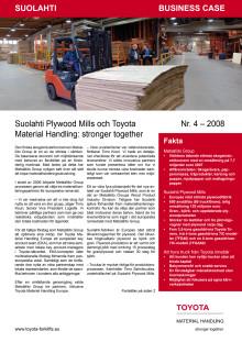 Suolahti Plywood Mills och Toyota Material Handling: stronger togehter