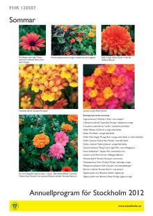 Bilder och sortlista sommar 2012