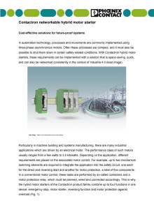 Contactron networkable hybrid motor starter