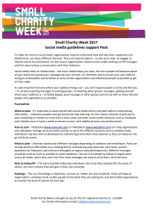 Small charity social media support toolkit