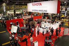 Toyota noterade stort intresse vid Logistik & Transport