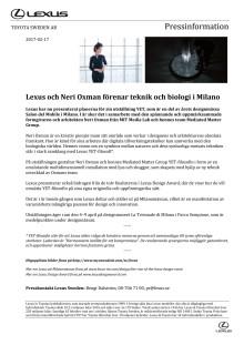 Lexus och Neri Oxman förenar teknik och biologi i Milano