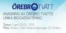 Miljöministern inviger unik biogassatsning i Örebro