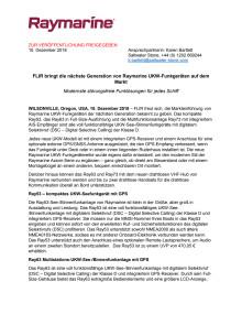FLIR bringt die nächste Generation von Raymarine UKW-Funkgeräten auf dem Markt