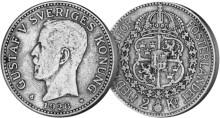 Sveriges sista 2-krona i silver