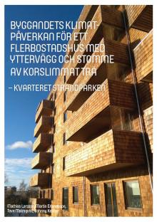 Att bygga flerbostadshus i trä med glasull i stället för i betong sänker CO2-utsläppen drastiskt!