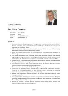 CV Mats Deleryd