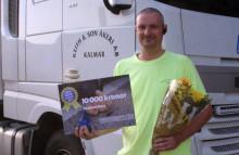 Stoppade rattfull med sin lastbil, nu har han fått pris av MHF