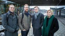 Utbytesstudenter tar tåget utomlands – ett led i hållbart resande