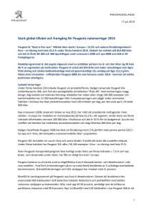 Stark global tillväxt för Peugeot