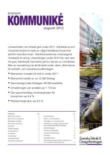 Branschkommuniké Svenska Teknik&Designföretagen augusti 2012