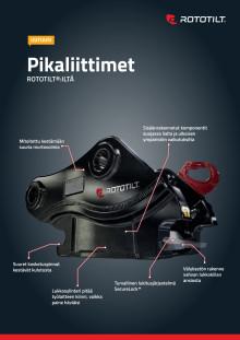 Product sheet machine coupler from Rototilt, Finnish
