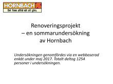 Diagram sommarprojekt, Hornbach