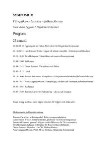 Program för symposium om värnpliktens historia