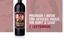 Idag - premiär i butik för Gessles succévin Kurt & Lisa!