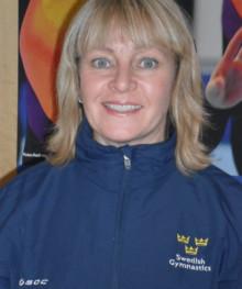 Monica Nyberg historisk första förbundskapten för svenska landslag i truppgymnastik