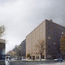 Spaden i marken för ett nytt äldreboende i Göteborg