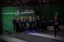 Guld-jubel för mixedlaget på EM i truppgymnastik