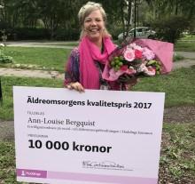 Ann-Louise Bergquist vinnare av äldreomsorgens kvalitetspris i Huddinge