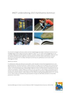 Sammanfattning ANDT-rapport Karlshamns kommun