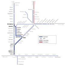 Linjekarta för Marieholmsbanan