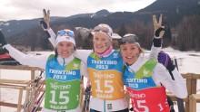 Sveriges längdskiddamer tog stafettsilver i Univerisaden