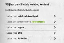 Ny betalningsmetod för Halebops kontantkortskunder