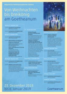 Weihnachten am Goetheanum