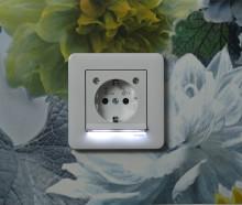 Inbyggd nattlampa förbrukar minimalt med energi!