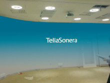 Profilskylt till TeliaSoneras huvudkontor vid Stureplan