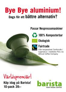 World Fairtrade Day på lördag - Barista lanserar Fairtradekapsel som passar Nespressomaskiner