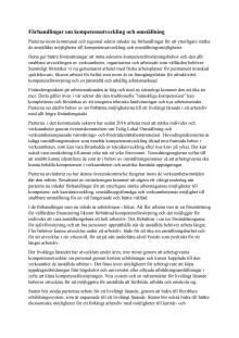 Förhandlingar om kompetensutveckling och omställning