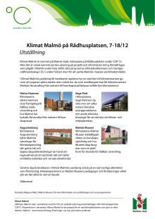 Malmö stads utställning på Rådhusplatsen i Köpenhamn under COP15